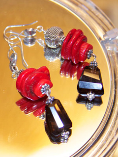 Glass and Rock Earrings