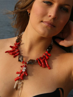 Rocx Collection Red Coral Necklace