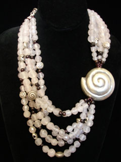 White Shell Rocx Collection Necklace