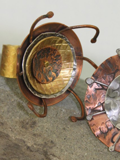 Mixed Metal Textured Ring