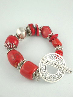 Rocx Collection Red Stone Bracelet