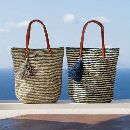 Striped with Tassles Baskets