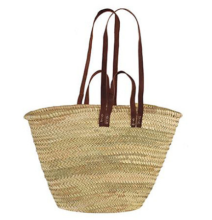 Tan and Leather Basket